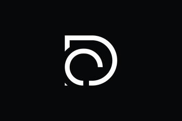 Fototapeta DC logo letter design on luxury background. CD logo monogram initials letter concept. DC icon logo design. CD elegant and Professional letter icon design on black background. D C CD DC obraz
