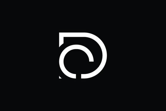 DC logo letter design on luxury background. CD logo monogram initials letter concept. DC icon logo design. CD elegant and Professional letter icon design on black background. D C CD DC