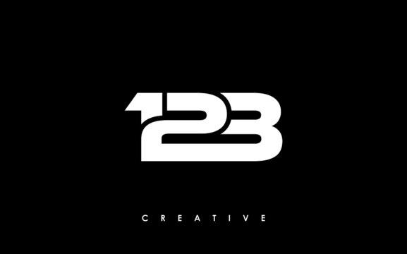 123 Letter Initial Logo Design Template Vector Illustration