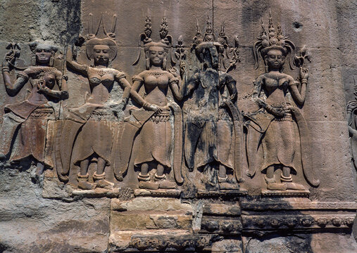 Apsara on the wall in angkor wat