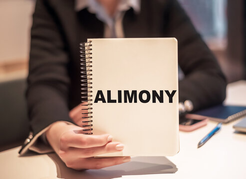 Word writing text Alimony. Business concept for money paid to either husband or wife after a divorce