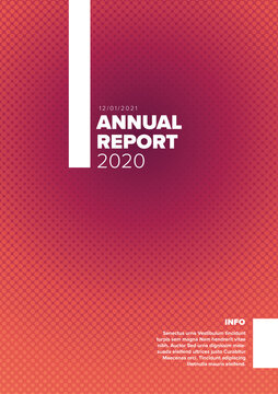 Annual minimalistic report cover template
