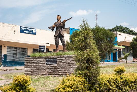 Fort Portal, Uganda - July 20 2011: Statue of Major Sir Gerald Portal