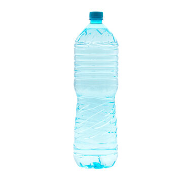 2 liter water bottle isolated on white