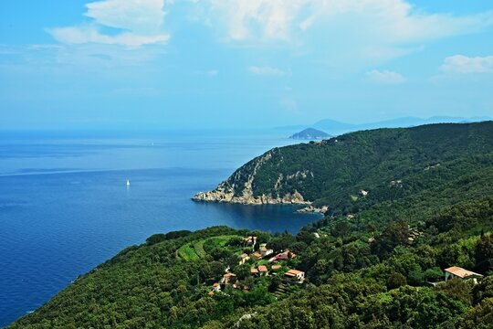 Italy- view on the north shoreon the island of Elba