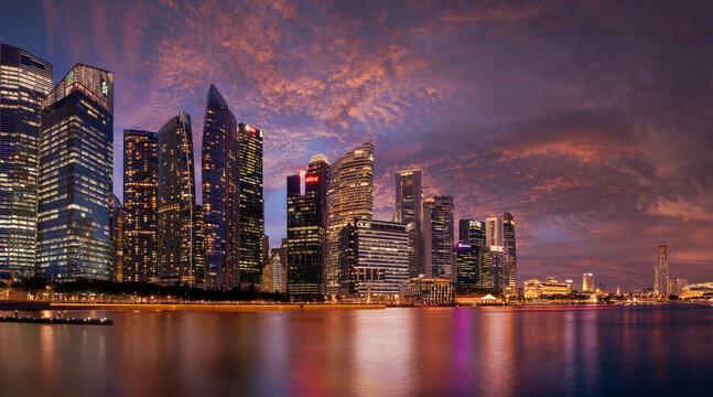 View at Singapore City Skyline
