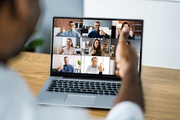 Fototapeta Online Video Conference Work Webinar obraz
