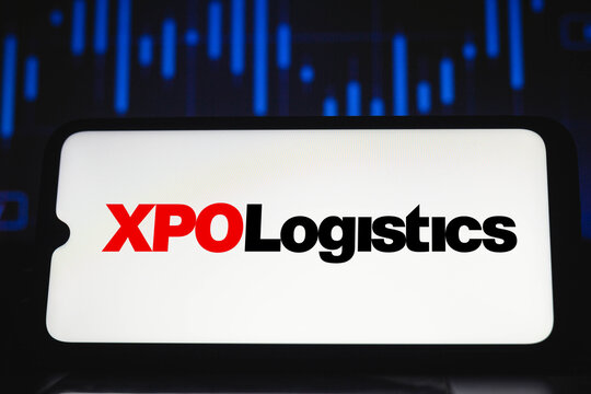 February 12, 2021, Brazil. In this photo illustration the XPO Logistics logo seen displayed on a smartphone screen.