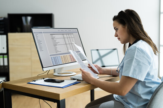 Medical Bill Codes And Spreadsheet Data