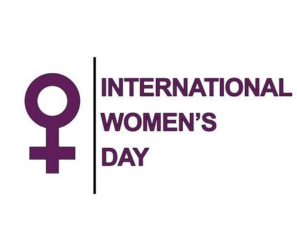 International Women's Day symbol, sign or logo. Padlock design. White background. Vector Illustration. March 8