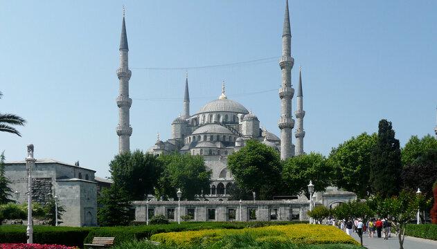 Exterior of Blue Mosque - Instanbul, Turkey