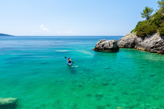 amazing crystal claer sea in Himare in south Albania