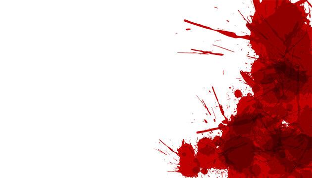 blood or red ink splatter background design