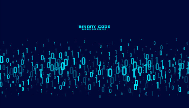 binary code digital data numbers background