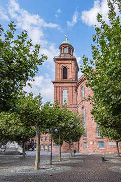 St. Paul's Church (Paulskirche, 1833) - Protestant church in Paulsplatz (Paul square) in Frankfurt am Main, Germany.