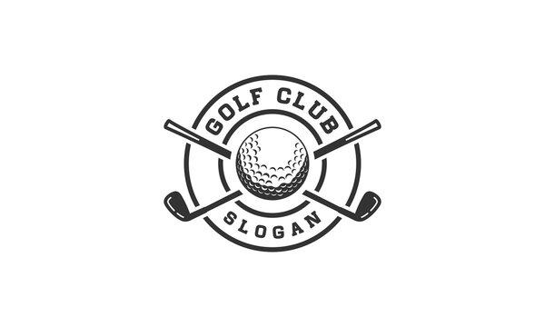 Inspirational golf logo on white background