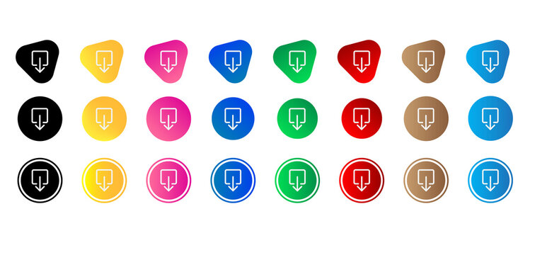 box arrow down icon set. Website set icon vector. for computer and mobile