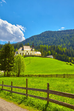 South Tyrol impressions, church near Ratschings, (Santa Maddalena) Italy.