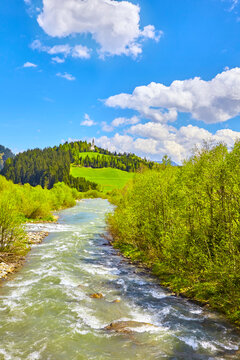 South Tyrol impressions, mountain stream near Ratschings, Italy.