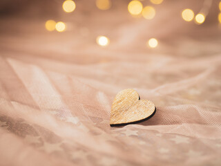 Fototapeta Drewniane walentynkowe serce  obraz