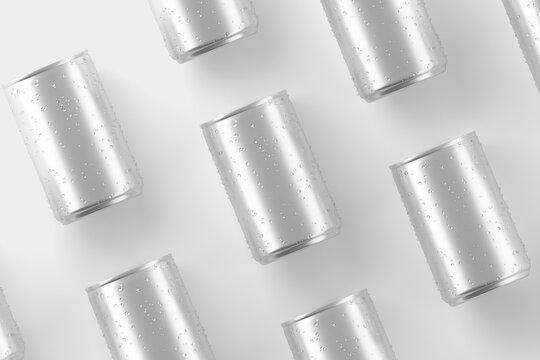 150ml Soda Can White Blank 3D Rendering Mockup