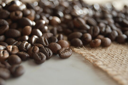 coffee beans on the ground
