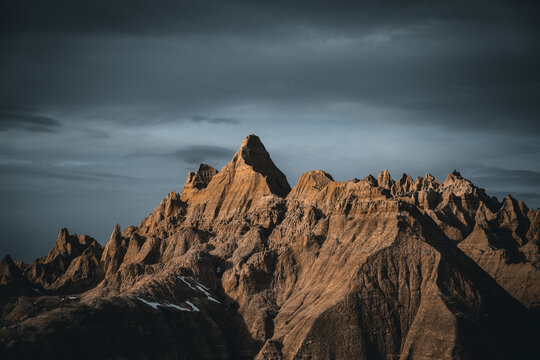 Moody sunset in the Badlands