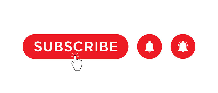 Clicking Red Subscribe Button with Ringing Bell for Channel Subscriptions