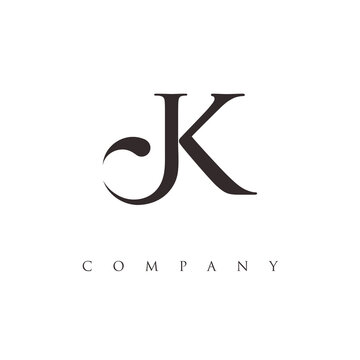 monogram JK logo design vector