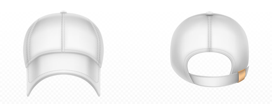 Vector mockup of blank white baseball cap