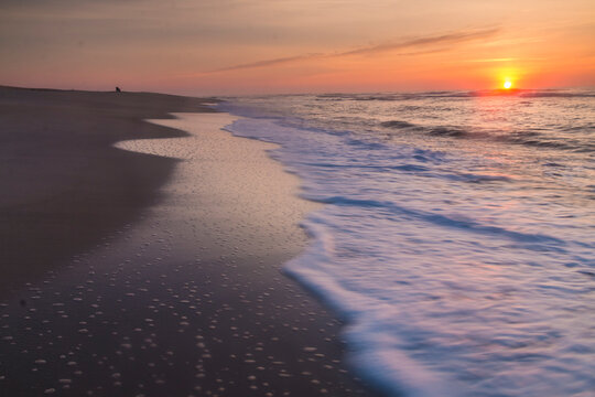 dramatic summer Assateague beach photo in Maryland