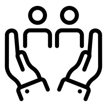 Family care in line vector, premium download