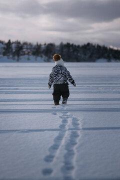 Exploring the winter wonder land