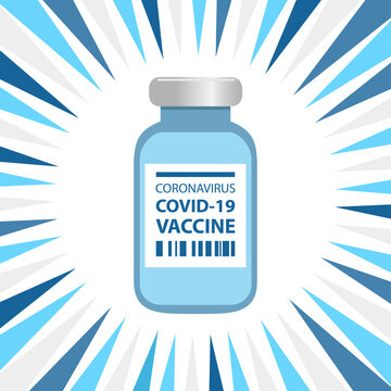 A dramatic design of the Coronavirus Covid-19 vaccine bottle.