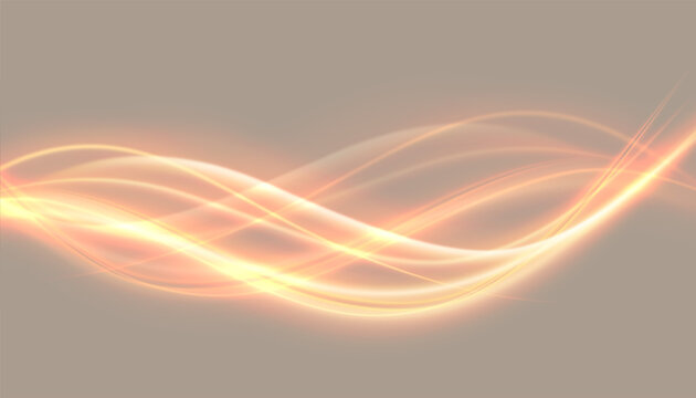abstract glowing lights wave effect backgroun design