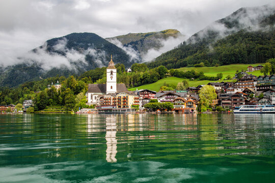 St. Wolfgang, a small town in Salzkammergut at Lake Wolfgang in Austia