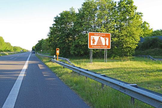 Ostfriesland Schild Tourismus