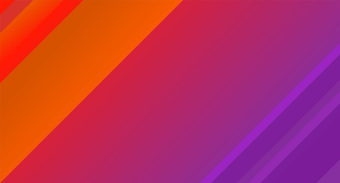 Abstract geometric red with purple background. Diagonal lines and stripes. Modern laconic design. Minimalist style. Vector
