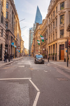 Cornhill street at the city of London
