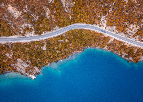 Incredible aerial view of the coast in New Zealand