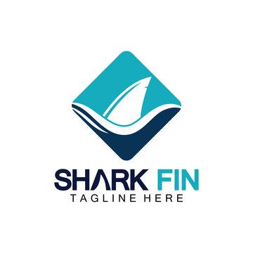 Shark fin logo vector illustration design template.Shark Logo Template-Vector illustration