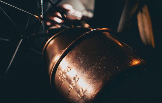 copper cups geometric industrial