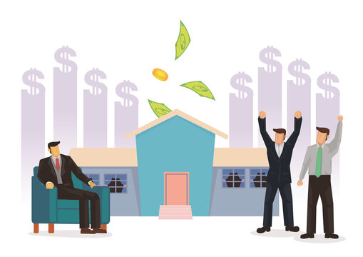 Business men happy with the rising cost of their property.