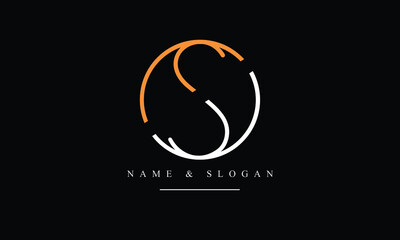 Obraz OS, SO, O, S abstract letters logo monogram - fototapety do salonu