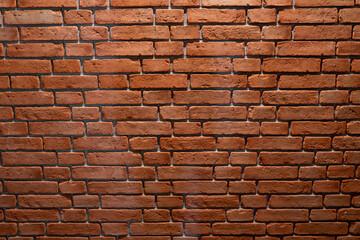 Fototapeta ceglana ściana, z czerwonej palonej starej rustykalnej cegły