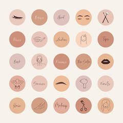 Fototapeta Beauty salon social media highlight covers obraz