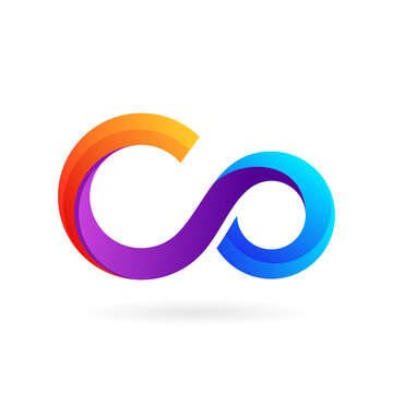 infinity logo letter c and o
