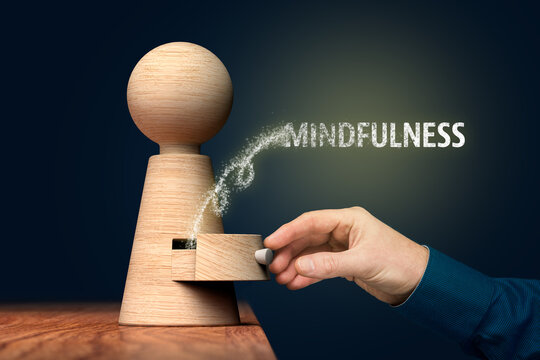 Discover power of mindfulness inside of you concept