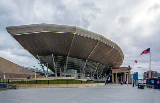 Chicago, USA - November 02, 2019 : Soldier Field exterior view in Chicago City of Illinois