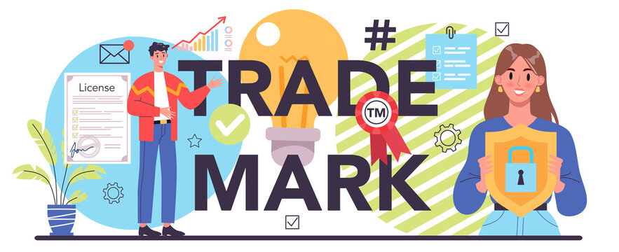Trade mark typographic header. Business start up, design